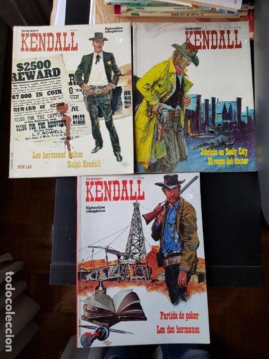 LOTE 3 TEBEOS / CÓMIC SHERIFF KENDALL BURU LAN 1973 OESTE N 1-2-4 ORIGINALES (Tebeos y Comics - Buru-Lan - Otros)