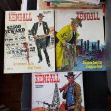 Cómics: LOTE 3 TEBEOS / CÓMIC SHERIFF KENDALL BURU LAN 1973 OESTE N 1-2-4 ORIGINALES. Lote 194215016
