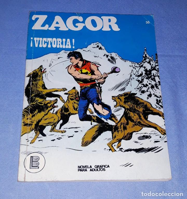 ZAGOR Nº 50 BURULAN ORIGINAL AÑO 1972 (Tebeos y Comics - Buru-Lan - Zagor)