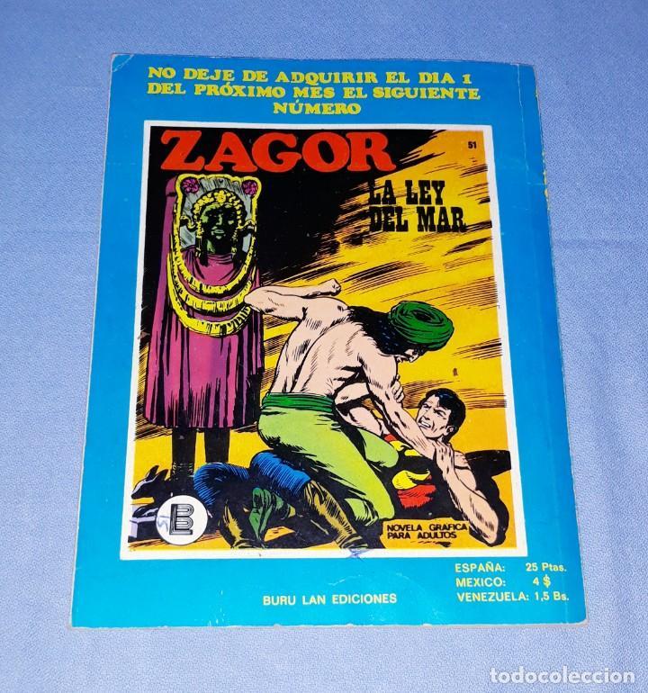 Cómics: ZAGOR Nº 50 BURULAN ORIGINAL AÑO 1972 - Foto 3 - 194335748