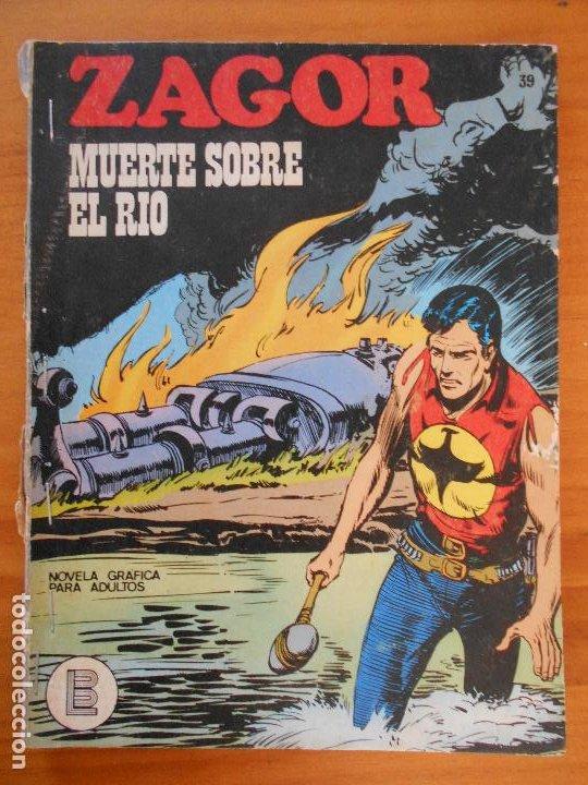 ZAGOR Nº 39 - MUERTE SOBRE EL RIO - BURU LAN - LEER DESCRIPCION (K1) (Tebeos y Comics - Buru-Lan - Zagor)
