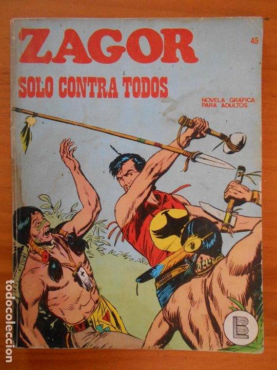 ZAGOR Nº 45 - SOLO CONTRA TODOS - BURU LAN (K1) (Tebeos y Comics - Buru-Lan - Zagor)
