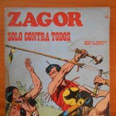Cómics: ZAGOR Nº 45 - SOLO CONTRA TODOS - BURU LAN (K1). Lote 194513181