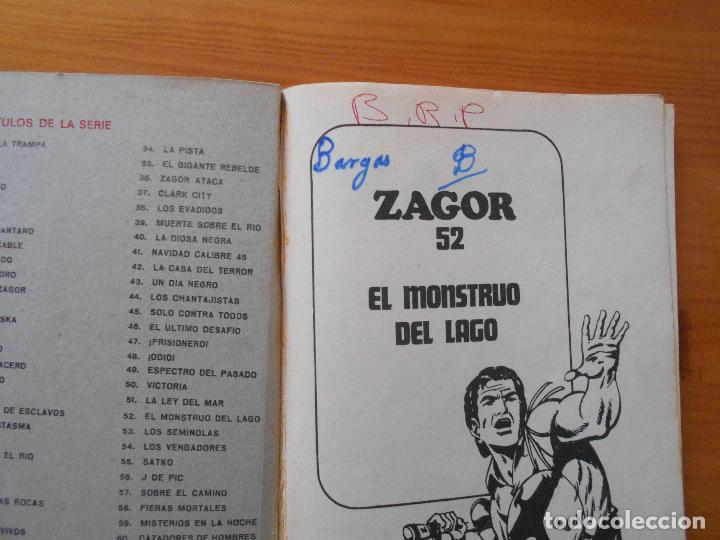 Cómics: ZAGOR Nº 52 - EL MONSTRUO DEL LAGO - BURU LAN - LEER DESCRIPCION (6R) - Foto 3 - 194580122
