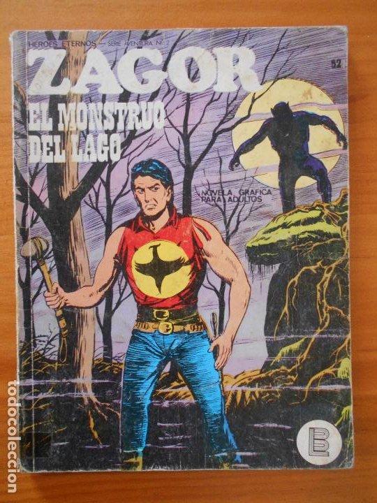 ZAGOR Nº 52 - EL MONSTRUO DEL LAGO - BURU LAN - LEER DESCRIPCION (6R) (Tebeos y Comics - Buru-Lan - Zagor)
