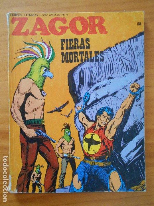 ZAGOR Nº 58 - FIERAS MORTALES - BURU LAN (6R) (Tebeos y Comics - Buru-Lan - Zagor)