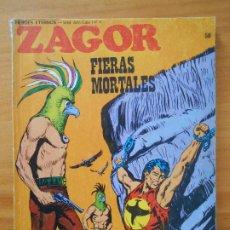 Cómics: ZAGOR Nº 58 - FIERAS MORTALES - BURU LAN (6R). Lote 194581075