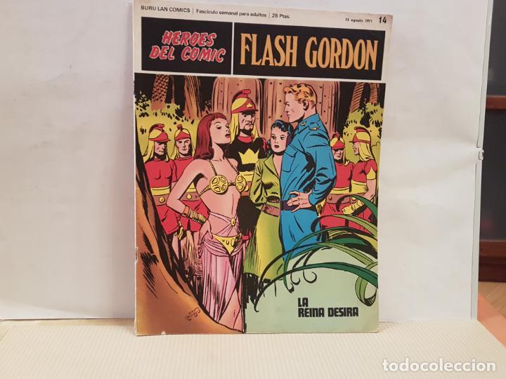 ANTIGUO TEBEO FLASH GORDON BURU LAN COMICS VOLUMEN II FASCICULO 14 AÑO 1971 LA REINA DESIRA (Tebeos y Comics - Buru-Lan - Flash Gordon)