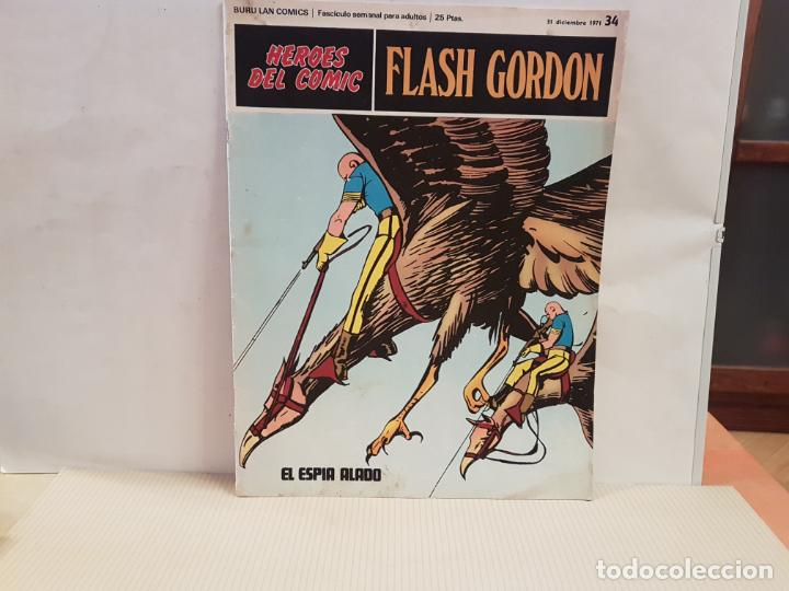 ANTIGUO TEBEO FLASH GORDON BURU LAN COMICS VOLUMEN III FASCICULO 34 AÑO 1971 EL ESPIA ALADO (Tebeos y Comics - Buru-Lan - Flash Gordon)