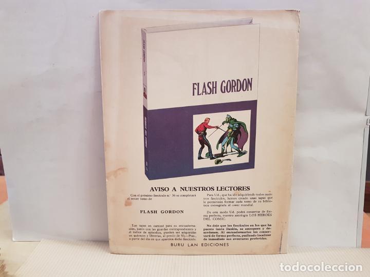 Cómics: antiguo tebeo flash gordon buru lan comics volumen III fasciculo 35 año 1972 el arma secreta - Foto 2 - 194726810