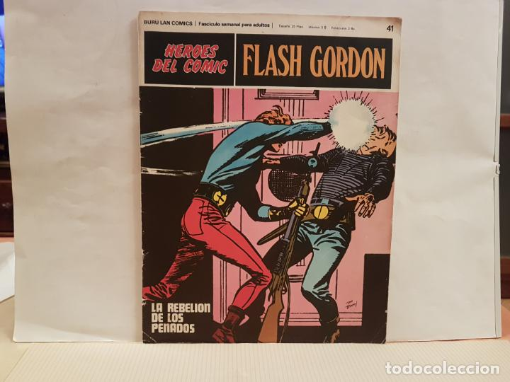 ANTIGUO TEBEO FLASH GORDON BURU LAN COMICS TOMO 4 FASCICULO 41 AÑO 1972 LA REBELION DE LOS PENADOS (Tebeos y Comics - Buru-Lan - Flash Gordon)
