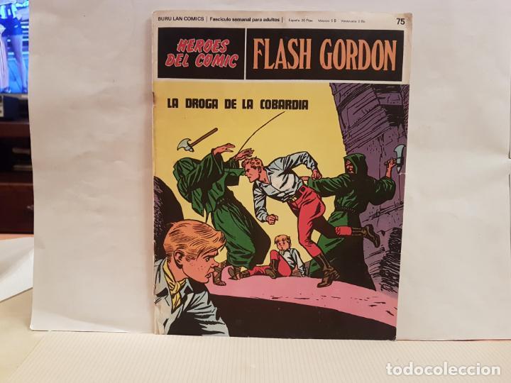 ANTIGUO TEBEO FLASH GORDON BURU LAN COMICS TOMO 7 FASCICULO 75 AÑO 1973 LA DROGA DE LA COBARDIA (Tebeos y Comics - Buru-Lan - Flash Gordon)