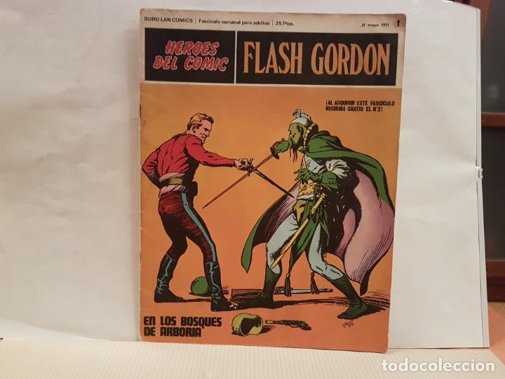 ANTIGUO TEBEO FLASH GORDON BURU LAN COMICS VOLUMEN 1 FASCICULO 1 AÑO 1971 EN LOS BOSQUES DE ARBORIA (Tebeos y Comics - Buru-Lan - Flash Gordon)