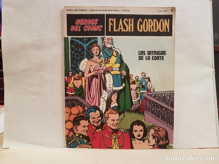 ANTIGUO TEBEO FLASH GORDON BURU LAN COMICS VOLUMEN 1 FASCICULO 4 AÑO 1971 LAS INTRIGAS DE LA CORTE (Tebeos y Comics - Buru-Lan - Flash Gordon)