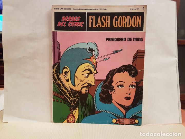 ANTIGUO TEBEO FLASH GORDON BURU LAN COMICS VOLUMEN 1 FASCICULO 6 AÑO 1971 PRISIONERA DE MING (Tebeos y Comics - Buru-Lan - Flash Gordon)