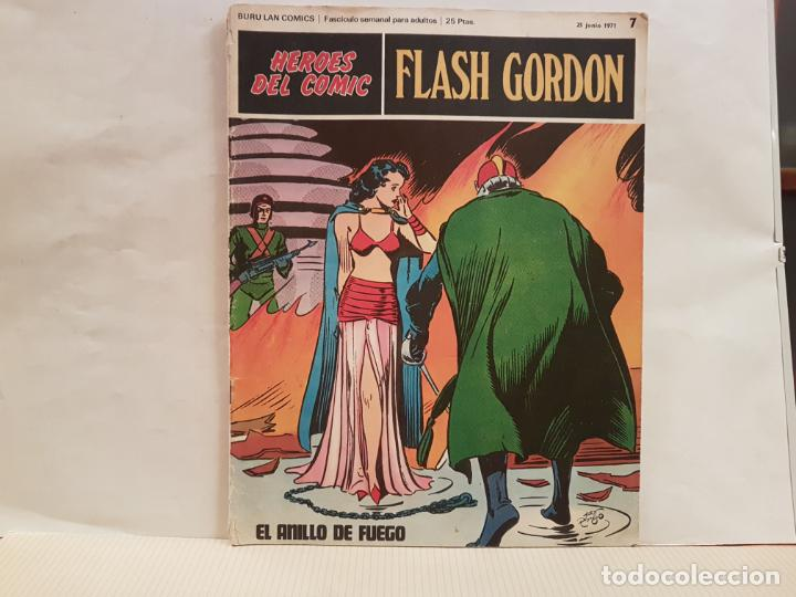 ANTIGUO TEBEO FLASH GORDON BURU LAN COMICS VOLUMEN 1 FASCICULO 7 AÑO 1971 EL ANILLO DE FUEGO (Tebeos y Comics - Buru-Lan - Flash Gordon)