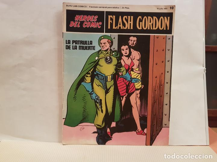 ANTIGUO TEBEO FLASH GORDON BURU LAN COMICS VOLUMEN 1 FASCICULO 10 AÑO 1971 LA PATRULLA DE LA MUERTE (Tebeos y Comics - Buru-Lan - Flash Gordon)