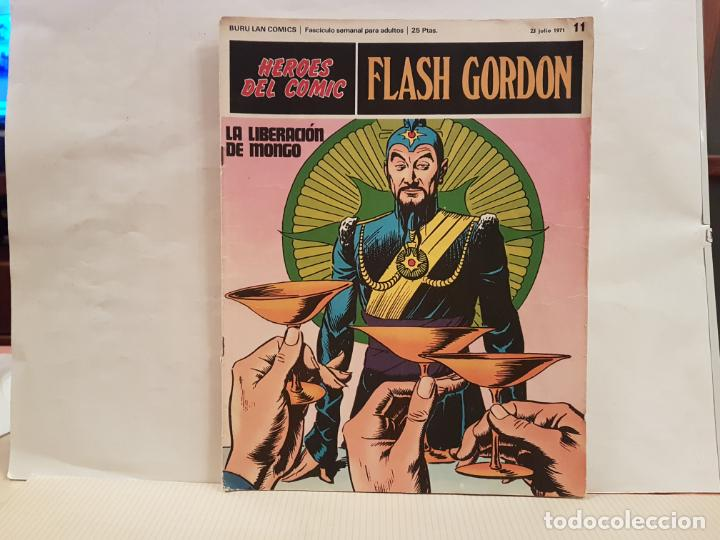 ANTIGUO TEBEO FLASH GORDON BURU LAN COMICS VOLUMEN 1 FASCICULO 11 AÑO 1971 LA LIBERACION DE MONGO (Tebeos y Comics - Buru-Lan - Flash Gordon)
