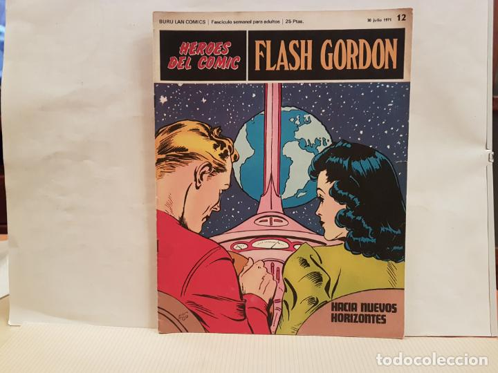 ANTIGUO TEBEO FLASH GORDON BURU LAN COMICS VOLUMEN 1 FASCICULO 12 AÑO 1971 HACIA NUEVOS HORIZONTES (Tebeos y Comics - Buru-Lan - Flash Gordon)