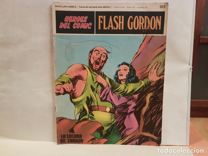 ANTIGUO TEBEO FLASH GORDON BURU LAN COMICS TOMO 02 FASCICULO 013 AÑO 1972 LA LOCURA DE ZARKOV (Tebeos y Comics - Buru-Lan - Flash Gordon)