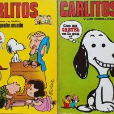 Cómics: CARLITOS CON EL CAPITÁN Y LOS CEBOLLITAS Nº1 Y Nº2. ED BURULAN 1971. Lote 195546208