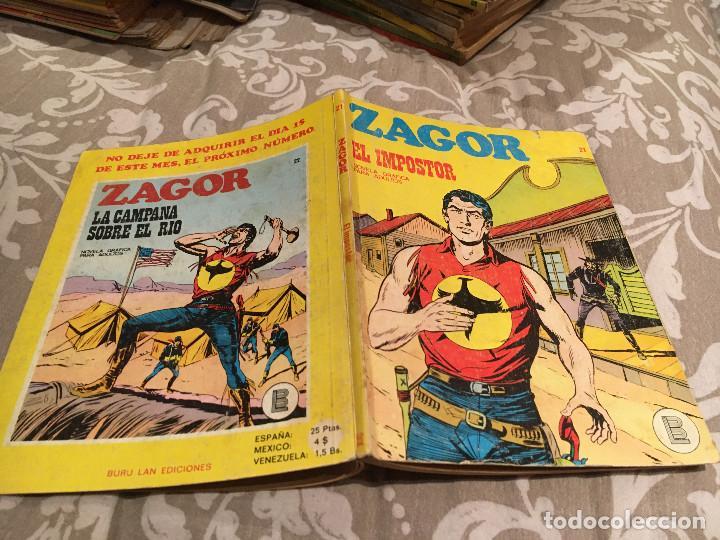 ZAGOR Nº 21 EL IMPOSTOR -EDITORIAL BURULAN (Tebeos y Comics - Buru-Lan - Zagor)