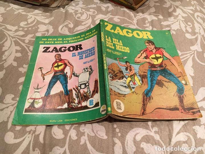 ZAGOR Nº15 - LA ISLA DEL MIEDO - BURU LAN 1972 (Tebeos y Comics - Buru-Lan - Zagor)