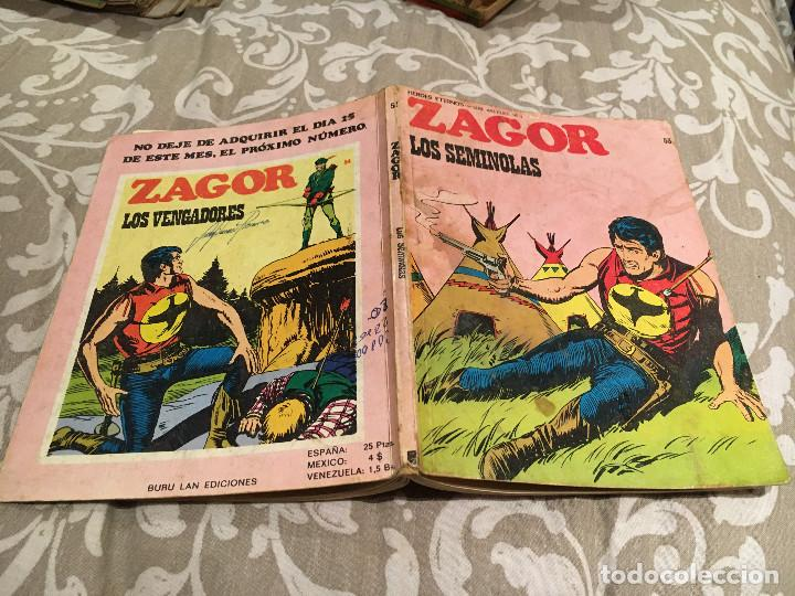 ZAGOR Nº53 LOS SEMINOLAS - BURU LAN 1972 (Tebeos y Comics - Buru-Lan - Zagor)
