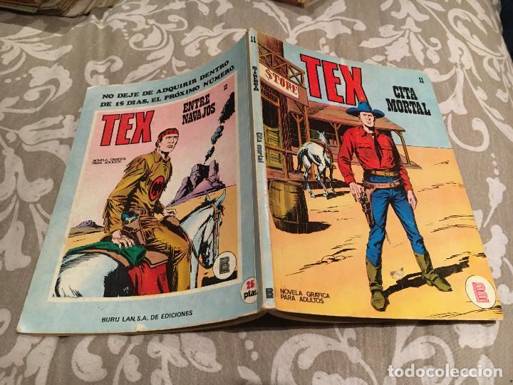 TEX Nº 11 CITA MORTAL - EDICIONES BURU-LAN 1971 (Tebeos y Comics - Buru-Lan - Tex)