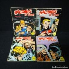 Cómics: LOTE USADO DE HALCONES DE ACERO 4 TOMOS DE 6 QUE FORMAN LA COLECCIÓN BURU-LAN BURULAN - OFERTA. Lote 196750868
