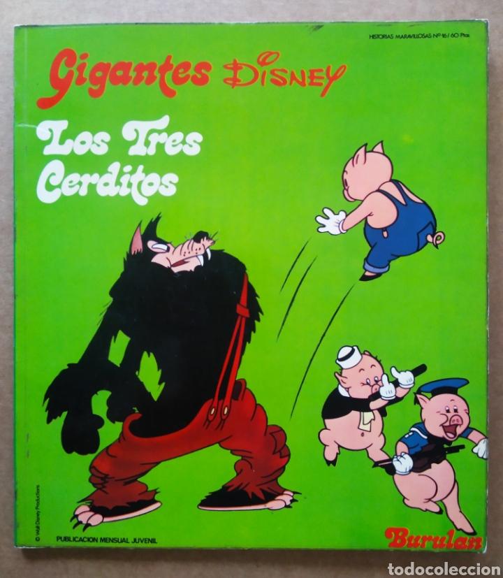 LOS TRES CERDITOS (BURULAN, 1974). COLECCIÓN GIGANTES DISNEY/HISTORIAS MARAVILLOSAS N°16. (Tebeos y Comics - Buru-Lan - Otros)