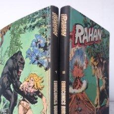 Cómics: RAHAN - COMPLETA DE 24 EPISODIOS - 2 TOMOS ENCUADERNADOS - ED. BURU LAN 1974. Lote 197421378