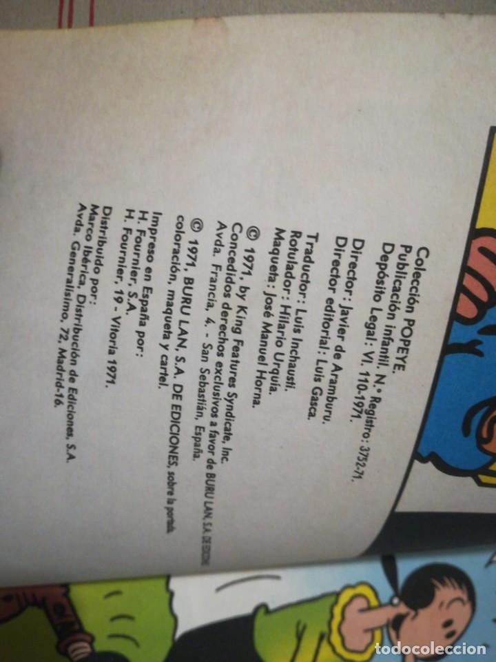 Cómics: Popeye el pulpo que fuma 11 buru lan 1971 - Foto 6 - 198245081