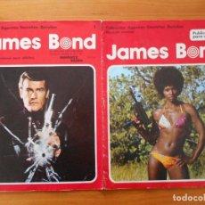 Cómics: JAMES BOND - COLECCION AGENTES SECRETOS BURULAN - Nº 1 Y 2 (AH). Lote 198412920