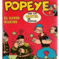 Cómics: POPEYE. Nº 9. EL GANSO MARINO. BURU LAN, 1971 (P/B3). Lote 198458568