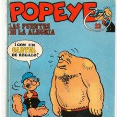 Cómics: POPEYE. Nº 23. LAS FUENTES DE LA ALEGRÍA. BURU LAN, 1971 (P/B3). Lote 198459036
