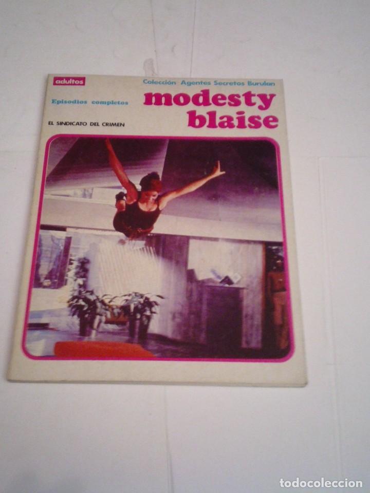 MODESTY BLAISE - EL SINDICATO DEL CRIMEN - EPISODIOS COMPLETOS - BUEN ESTADO - CJ 115 - GORBAUD (Tebeos y Comics - Buru-Lan - Modesty Blaise)