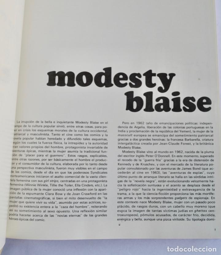 Cómics: Modesty Blaise. Tomo I. Ediciones Burulan. Ilustrador, Jim Holdaway. Guión, Peter O´ Donnell. 1974 - Foto 4 - 201229010