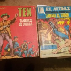 Cómics: LOTE 2 TEBEOS / CÓMIC TEX N 40 BURU LAN TIM EL AUDAZ 5 MARCO IBÉRICA. Lote 204258553