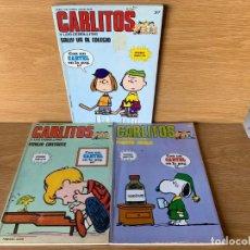 Comics: CARLITOS Y LOS CEBOLLITAS - Nº 37, 38 Y 39. Lote 204630693