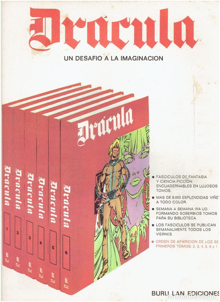 Cómics: * DRACULA * FASCICULOS ED. BURULAN 1970 * LOTE 12Nº * IMPECABLES * - Foto 9 - 205785787