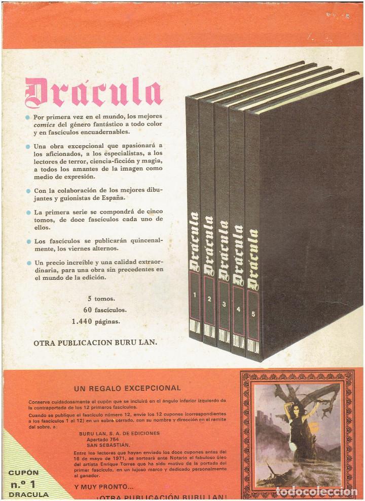 Cómics: * DRACULA * FASCICULOS ED. BURULAN 1970 * LOTE 12Nº * IMPECABLES * - Foto 16 - 205785787
