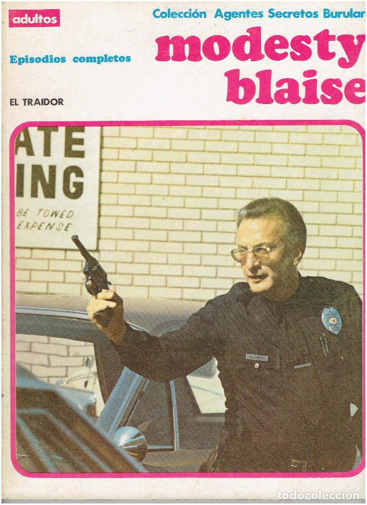 * MODESTY BLAISE * TOMO 4 EL TRAIDOR * EDICIONES BURULAN 1974 * EPISODIOS COMPLETOS * (Tebeos y Comics - Buru-Lan - Modesty Blaise)