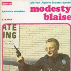 Cómics: * MODESTY BLAISE * TOMO 4 EL TRAIDOR * EDICIONES BURULAN 1974 * EPISODIOS COMPLETOS *. Lote 205859977
