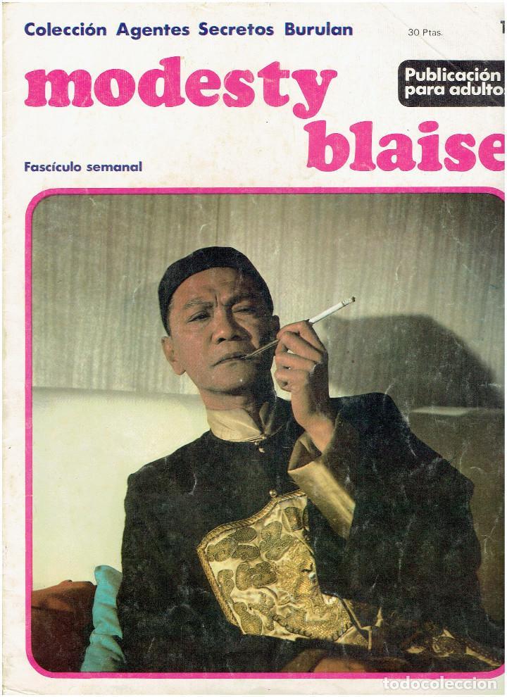 * MODESTY BLAISE * TOMO 1 * COLECCION AGENTES SECRETOS Nº 10 * EDICIONES BURULAN 1974 * (Tebeos y Comics - Buru-Lan - Modesty Blaise)