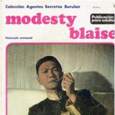 Cómics: * MODESTY BLAISE * TOMO 1 * COLECCION AGENTES SECRETOS Nº 10 * EDICIONES BURULAN 1974 *. Lote 205861370