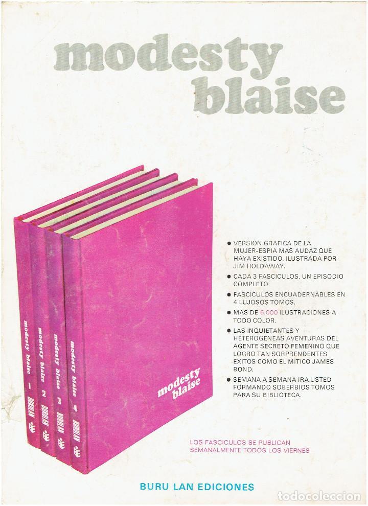 Cómics: * MODESTY BLAISE * TOMO 1 * COLECCION AGENTES SECRETOS Nº 10 * EDICIONES BURULAN 1974 * - Foto 3 - 205861370