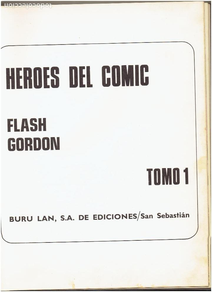 Cómics: * FLASH GORDON * TOMO 1 * HEROES DEL COMIC * EDICIONES BURULAN 1971 * - Foto 6 - 205900517