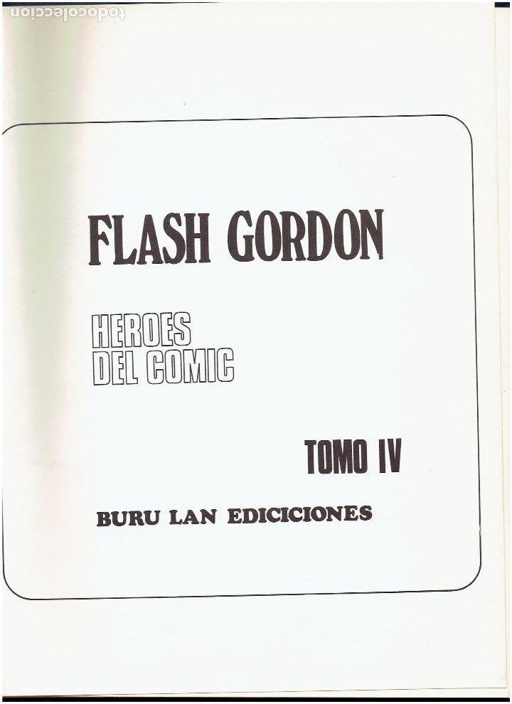 Cómics: * FLASH GORDON * TOMO IV * HEROES DEL COMIC * LA CAVERNA SUBTERRANEA * EDICIONES BURULAN 1972 * - Foto 5 - 205995002