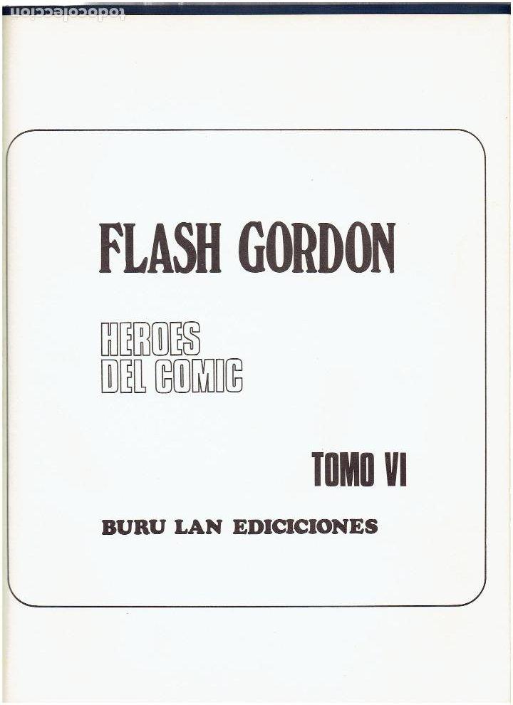 Cómics: * FLASH GORDON * TOMO VI * HEROES DEL COMIC * SURCANDO EL ESPACIO * EDICIONES BURULAN 1972 * - Foto 5 - 206116542